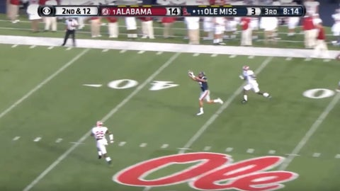 Evan Engram hauls in a 50-yard pass