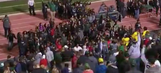 Racist graffiti leads to student protest at Eastern Michigan football game