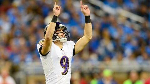 Place kicker: Justin Tucker, Baltimore Ravens