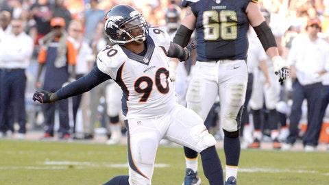 Patriots at Broncos -- Broncos defense