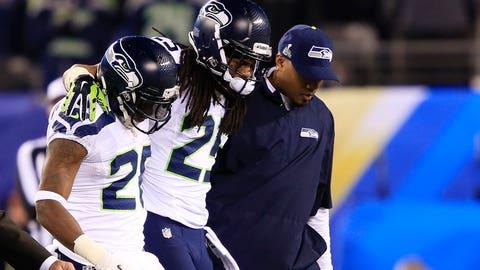 Sherman leaves the field