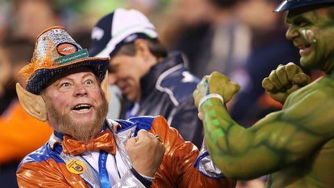 Scenes from Super Bowl XLVIII