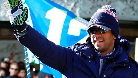 Super Bowl champs return home