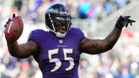 Terrell Suggs, LB, Ravens (biceps)
