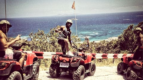 DeSean is also doing a little off-roading