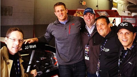 JJ Watt shows off his wheels ... literally