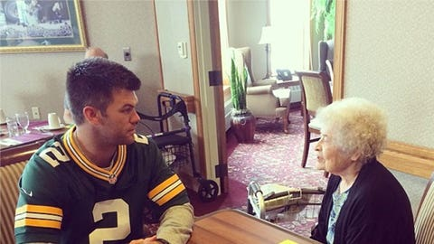 Mason Crosby gets in some quality time
