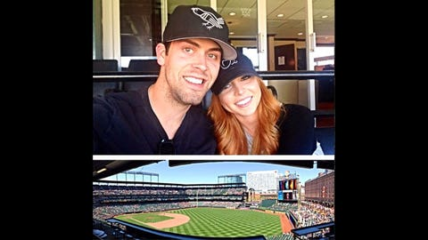 Justin Tucker gets a kick out of baseball