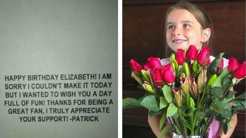 Patrick Willis knows how to treat a young lady