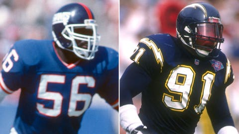 10. Lawrence Taylor and Leslie O'Neal: 132.5