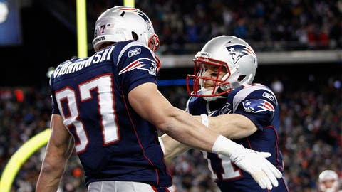 Edelman, Gronk play a part