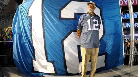 Raising the 12th man flag in Seattle