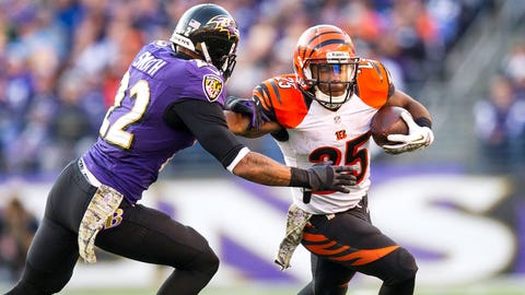 Gio Bernard receiving yards -- over 22.5