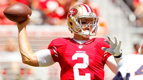 49ers QB Blaine Gabbert, $2 million