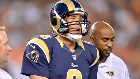 St. Louis quarterback Sam Bradford (knee)