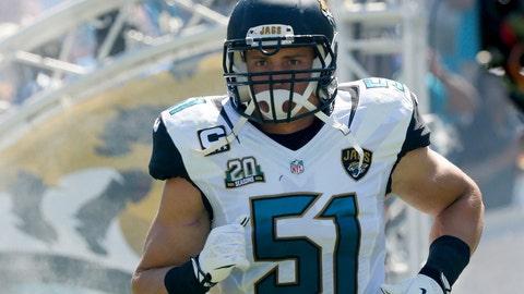 Jacksonville linebacker Paul Posluszny (pectoral muscle)
