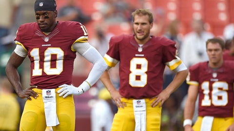 RG3, Kirk Cousins and Colt McCoy (Redskins)