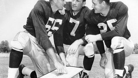 Norm Van Brocklin and Bob Waterfield (Rams)