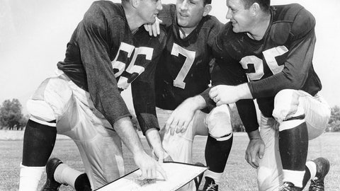 Norm Van Brocklin and Bob Waterfield (Rams)