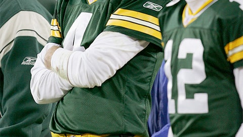 Brett Favre and Aaron Rodgers (Packers)