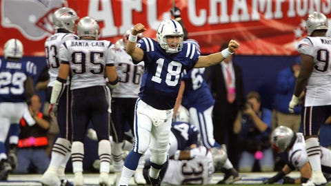 2006 AFC Championship Game (January 21, 2007): Indianapolis 38, New England 34
