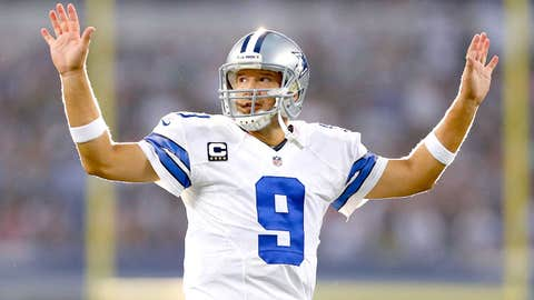 Tony Romo, QB, Cowboys (back): Active