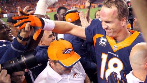 October runner-up: Oct. 19 – Peyton Manning breaks career TD pass record