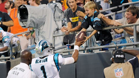 Cam Newton, QB, Panthers (concussion): Active