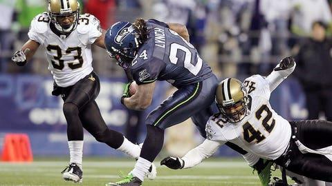 2010 season: Seattle 41, New Orleans 36