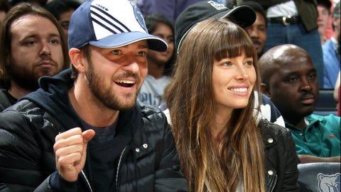 Pop star/actor Justin Timberlake and actress Jessica Biel