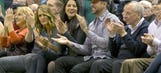 Aaron Rodgers and Olivia Munn had a good old time at an NBA game (Caption contest!)