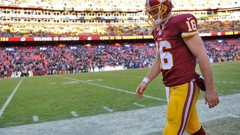 Colt McCoy, QB, Redskins