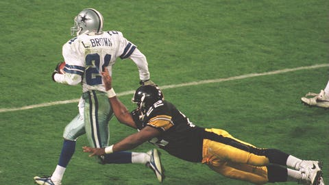 Super Bowl XXX: Larry Brown torments Neil O'Donnell