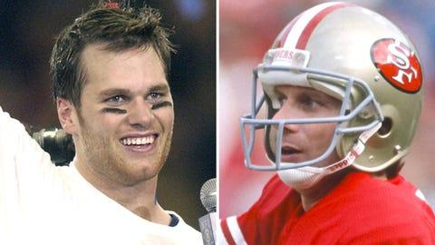 Tom Brady and Joe Montana