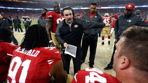 San Francisco defensive line coach Jim Tomsula