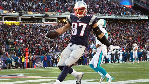 Rob Gronkowski receiving yards -- OVER 82.5