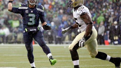 vs. Drew Brees, 2013 Divisional playoffs: Seahawks 23, Saints 15