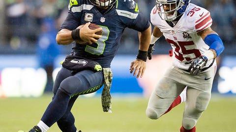 vs. Eli Manning, Week 10, 2014: Seahawks 38, Giants 17