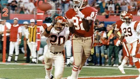 Super Bowl XXIII: John Taylor brings it in