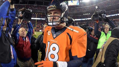 1. Will quarterback Peyton Manning return in 2015?