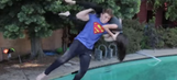 WATCH: Guy performs famous WWE finishing moves off diving board (with Jim Ross dubs!)
