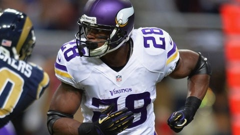 Minnesota running back Adrian Peterson