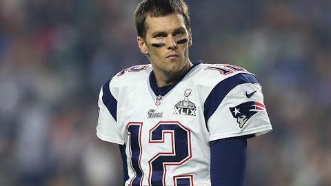 Tom Brady, QB, Patriots (knee): Questionable