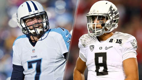 28. Tennessee Titans -- Zach Mettenberger and Marcus Mariota