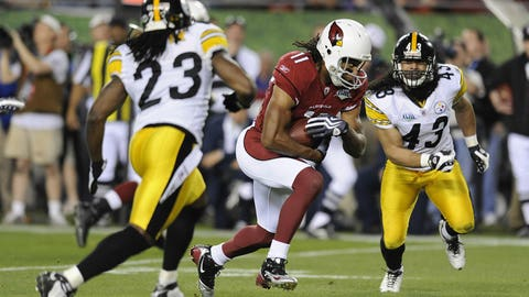 2009-10: Troy Polamalu, S, Steelers and Larry Fitzgerald, WR, Cardinals (2010 cover)