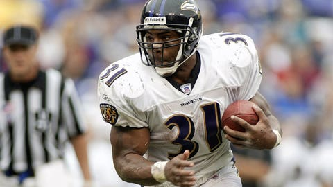 2001: RB Jamal Lewis, Baltimore Ravens (torn ACL, sprained MCL)
