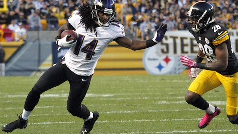Who will be Flacco's No. 2 receiver?