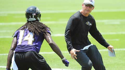 Baltimore Ravens offensive coordinator Marc Trestman