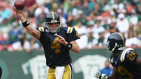 Career-high six touchdown passes with the Jets