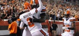 Manziel runs to the end zone, McCown passes there